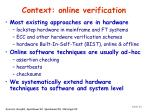 context online verification