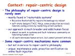 context repair centric design48
