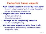evaluation human aspects