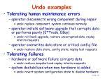 undo examples