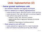 undo implementation 2