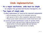 undo implementation