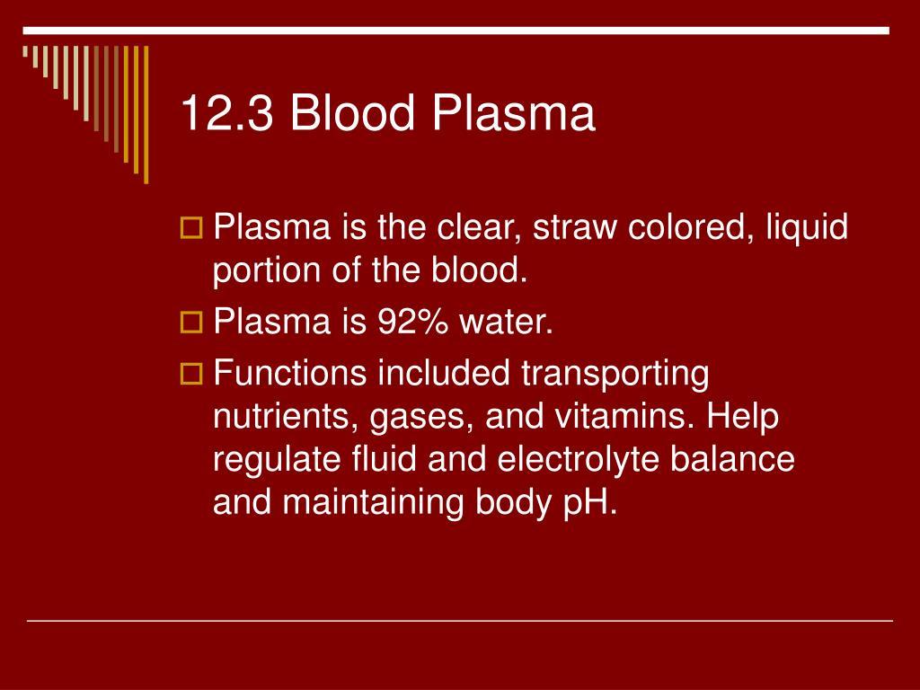 12.3 Blood Plasma