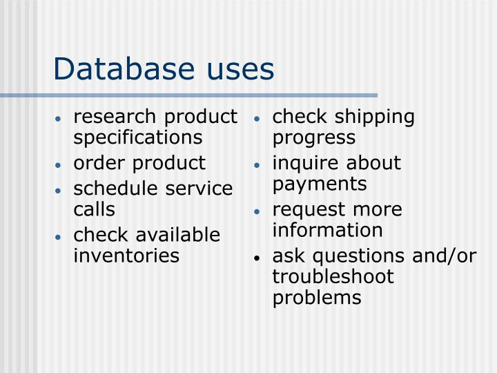 research product specifications