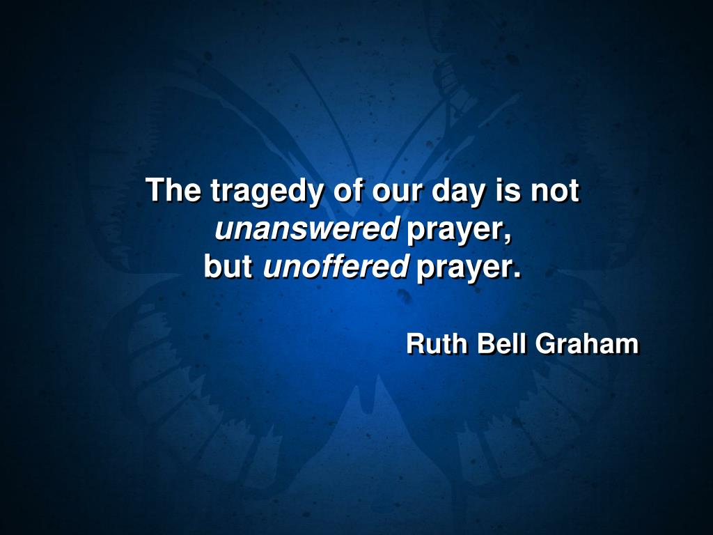 The tragedy of our day is not