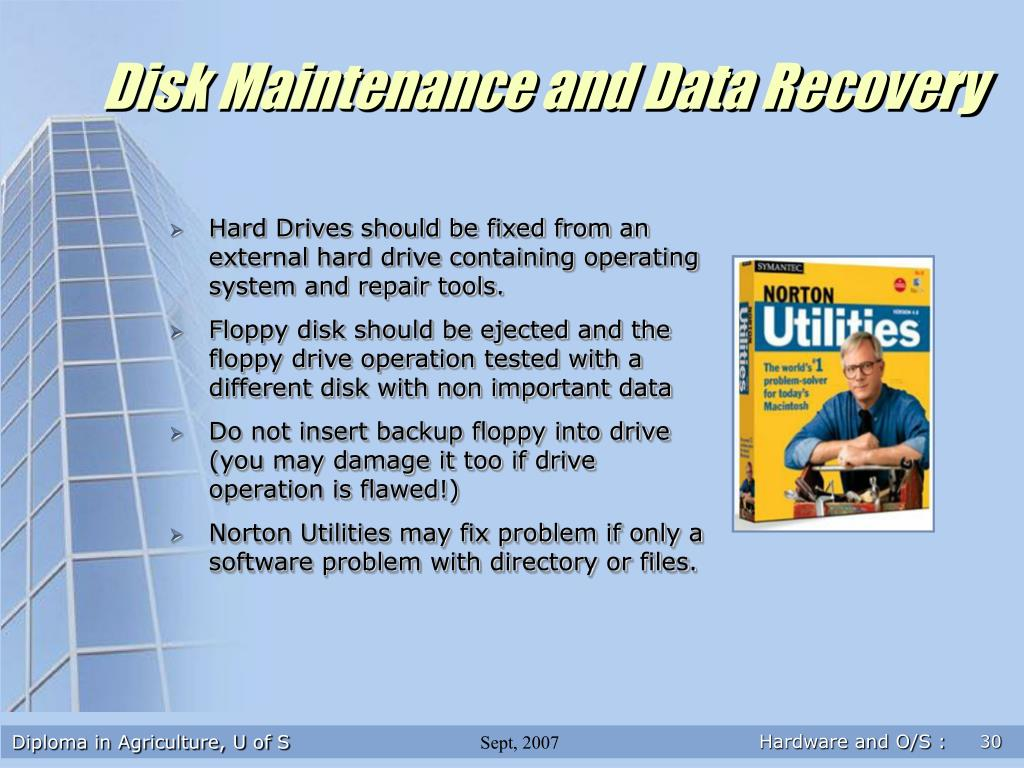Disk Maintenance and Data Recovery