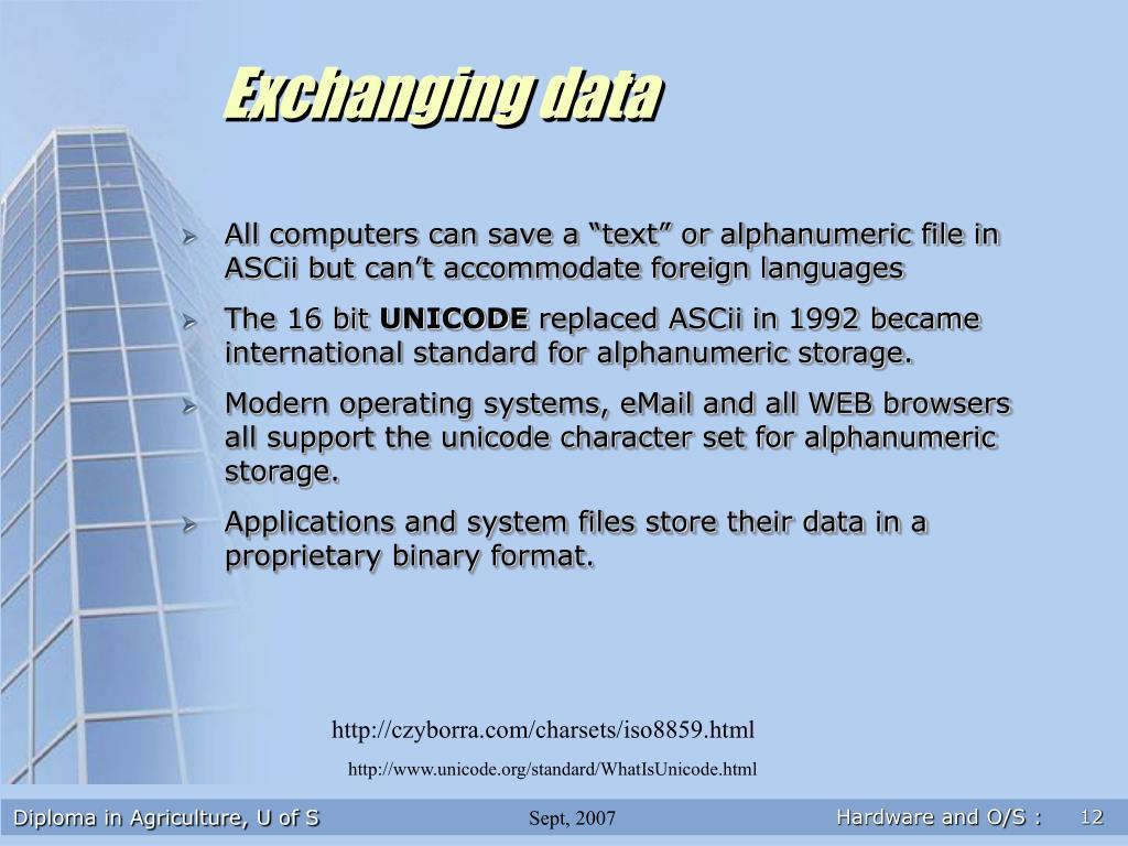 Exchanging data