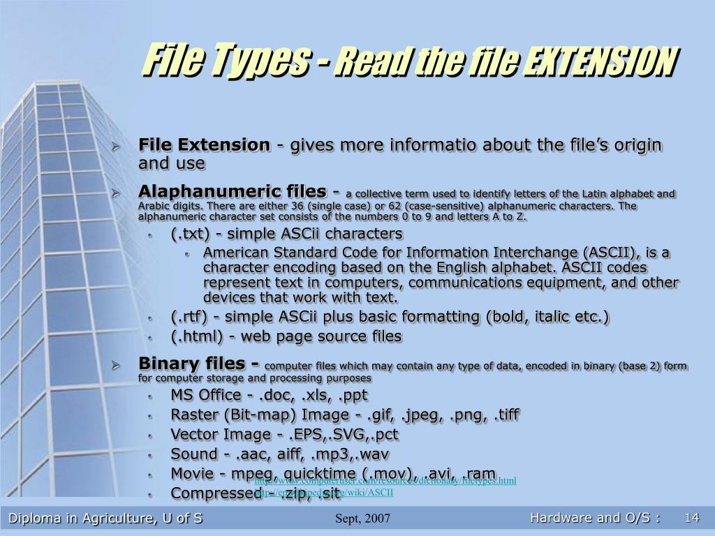 File Types -