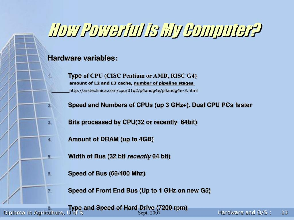 How Powerful is My Computer?