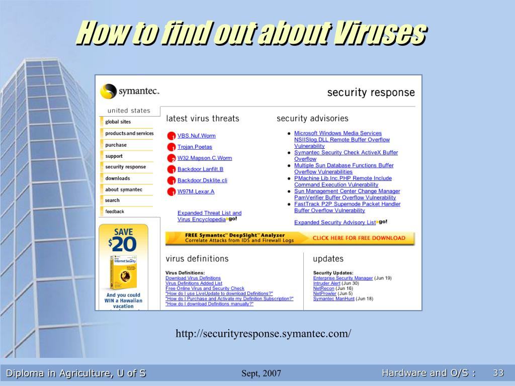 How to find out about Viruses