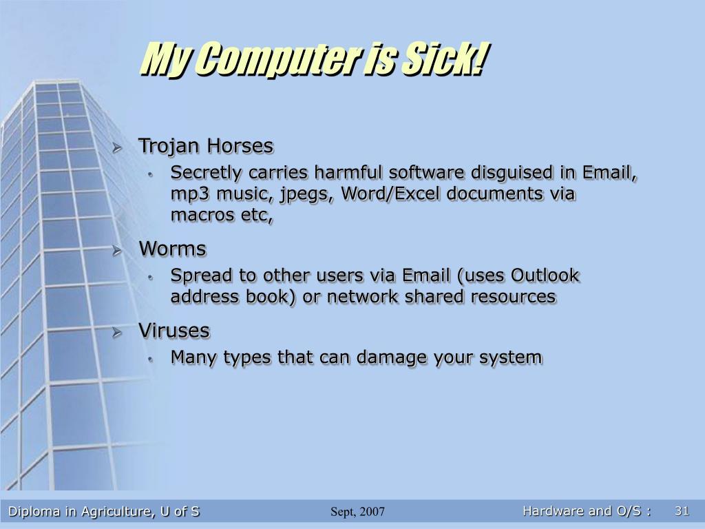 My Computer is Sick!
