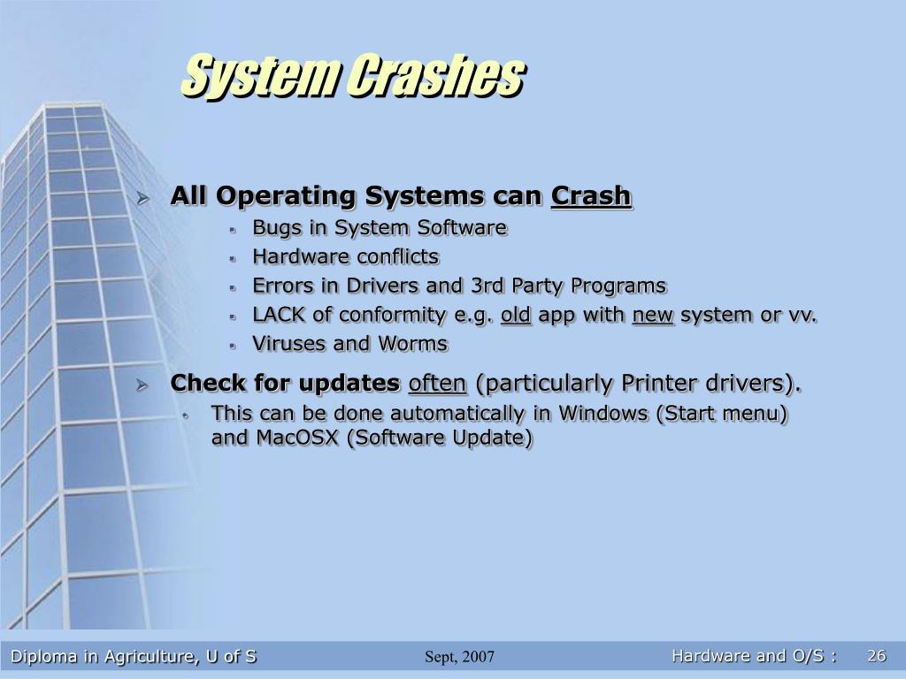 System Crashes