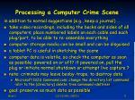 processing a computer crime scene