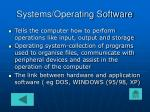 systems operating software