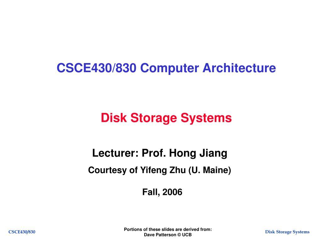 csce430 830 computer architecture l.