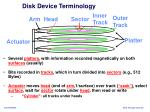 disk device terminology