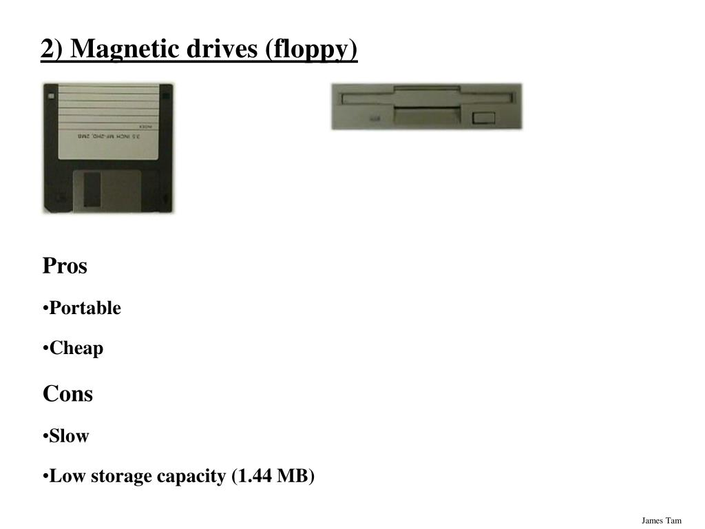 2) Magnetic drives (floppy)