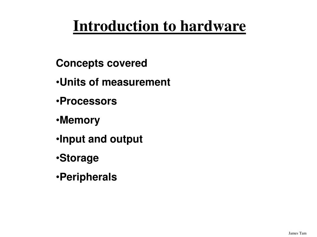 introduction to hardware l.
