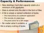 capacity performances