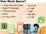 how much space
