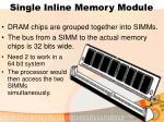single inline memory module