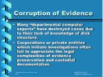 corruption of evidence