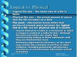 logical vs physical
