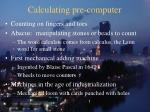 calculating pre computer