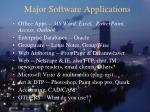 major software applications