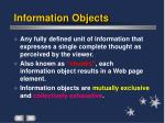 information objects