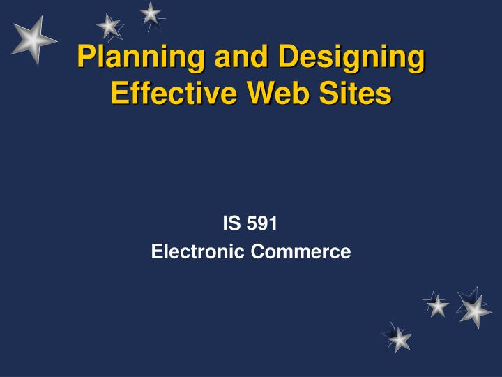 planning and designing effective web sites n.