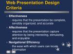 web presentation design criteria