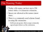 file naming today