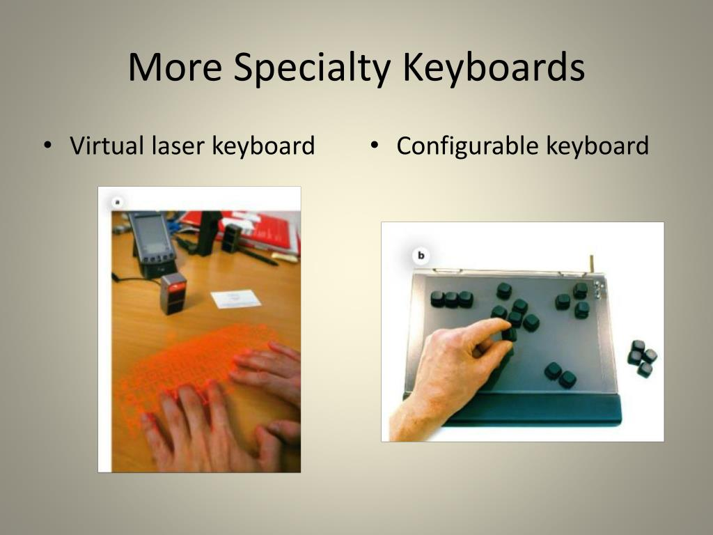 More Specialty Keyboards