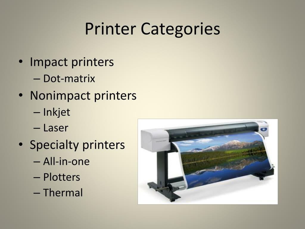 Printer Categories