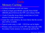 cache memory caching