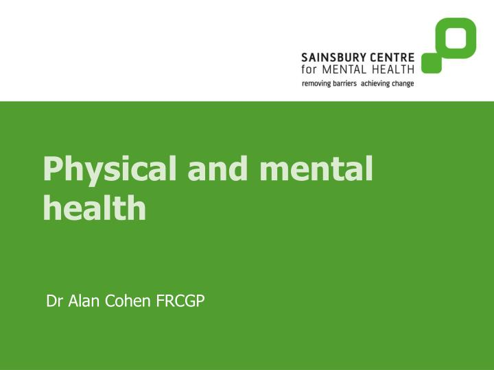 physical and mental health Physical activity and mental health begins with an exploration of the brain systems that are affected by physical activity and how these affect mental well-being the text continues with discussion of the following topics.