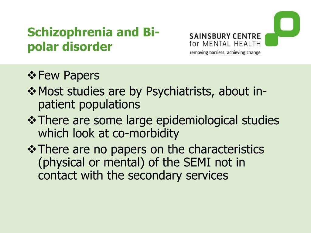 schizophrenia and bipolar disorder essay