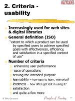 2 criteria usability