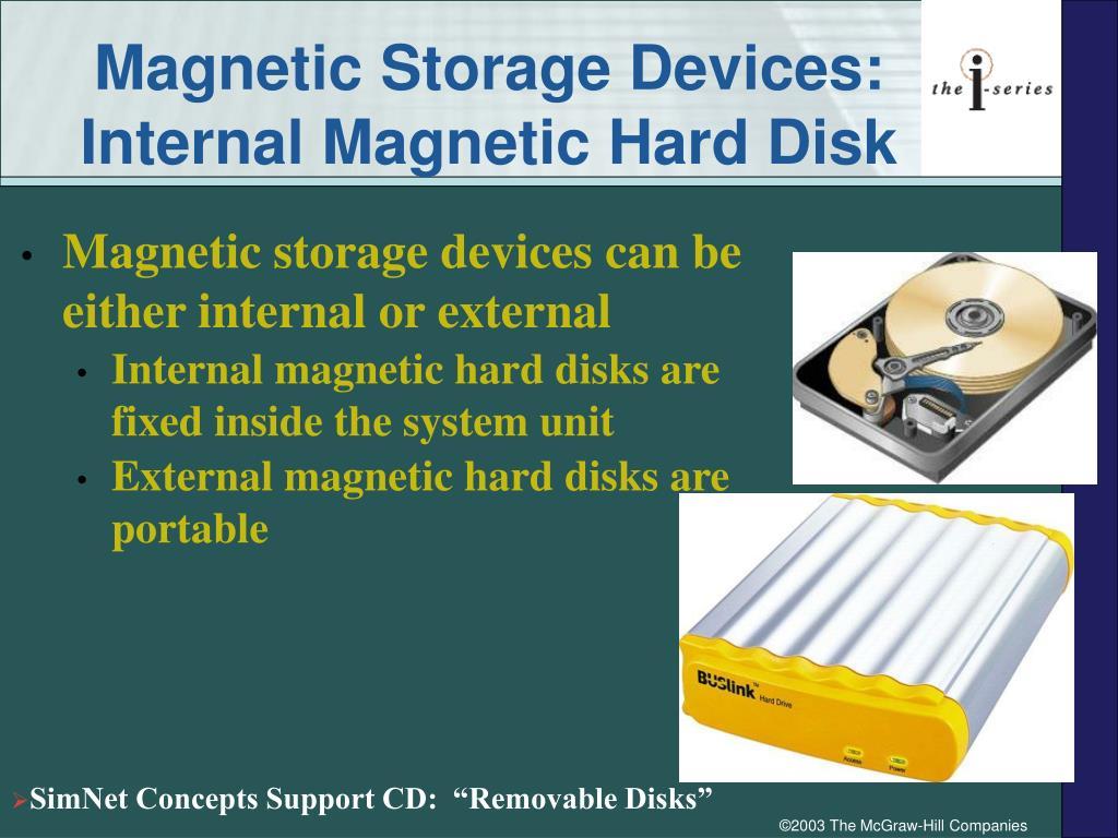 Magnetic Storage Devices: Internal Magnetic Hard Disk