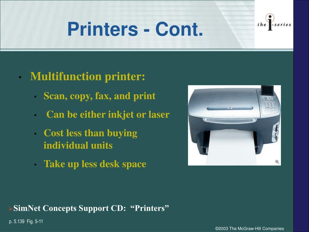 Printers - Cont.