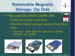 removable magnetic storage zip disk