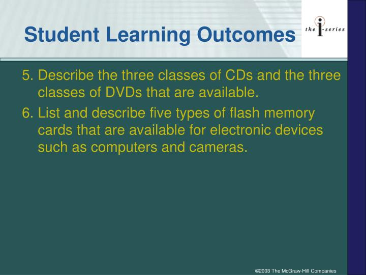 Student learning outcomes3