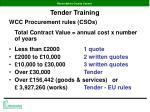 tender training4