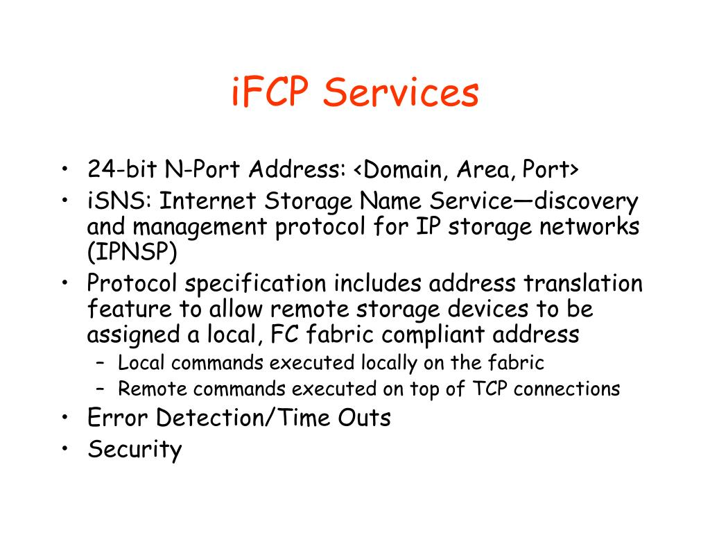 iFCP Services