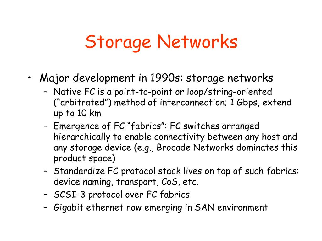 Storage Networks