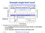 example single fault result