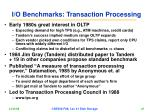 i o benchmarks transaction processing