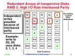redundant arrays of inexpensive disks raid 5 high i o rate interleaved parity