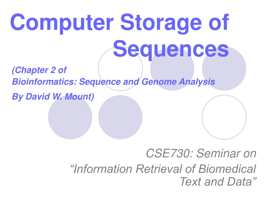 computer storage of sequences l.